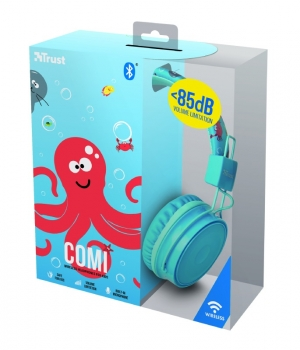 Trust Comi Bluetooth Wireless Kids Headphones - blue (23128)